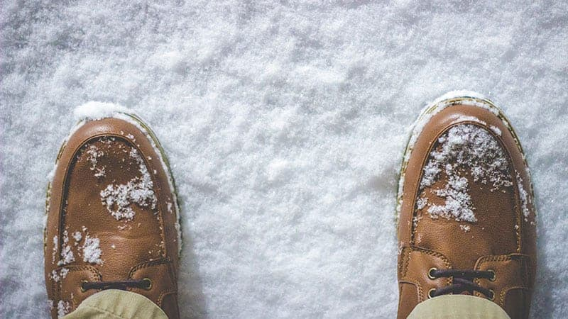 Feet on snow