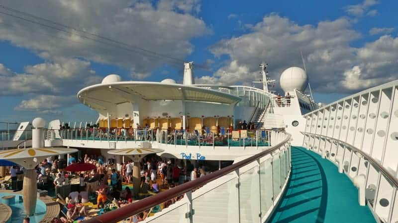 Cruise ship deck - Best Cruise Lines for Young Adults
