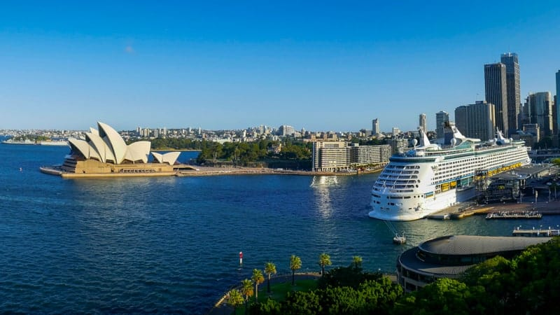 Cruise ship in Sydney Harbour - Best Destinations for December Cruises