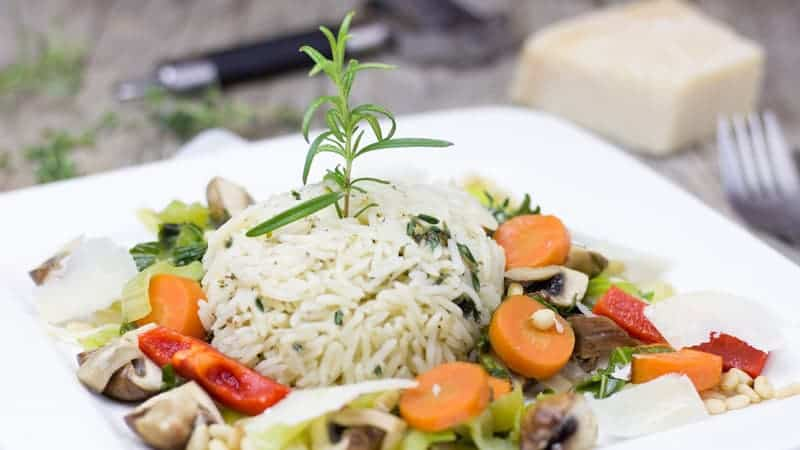 Vegetarian rice dish - Best Vegan and Vegetarian Cruises