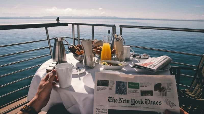 Breakfast on balcony on cruise ship - Best Things to Do on Cruises