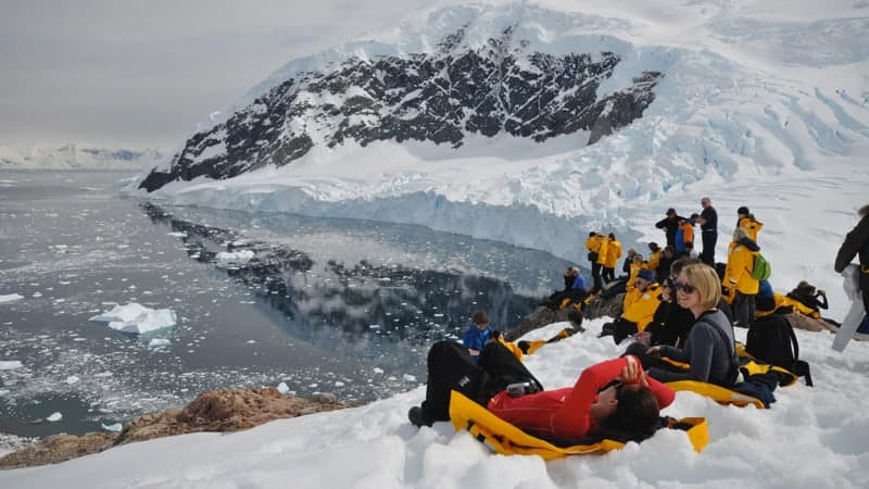 People on ice in Antarctica - Best Antarctica Cruises