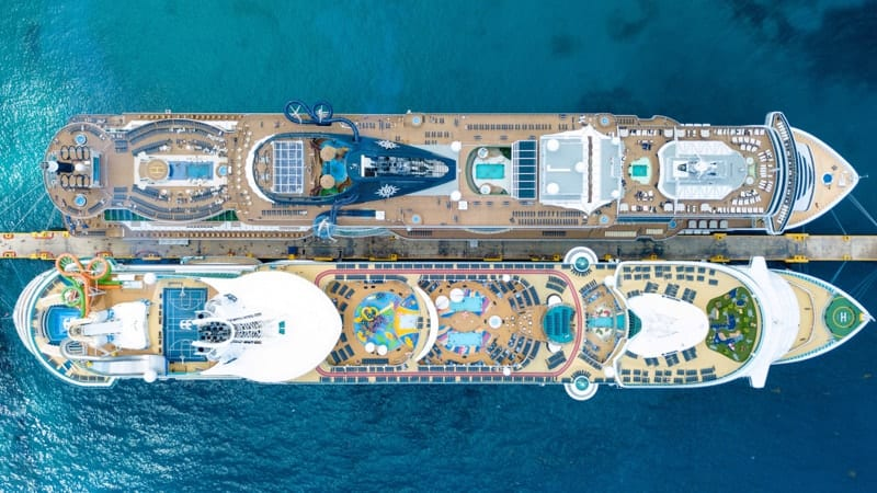 Two large cruise ships side by side - Top 10 Things to Do on a Cruise