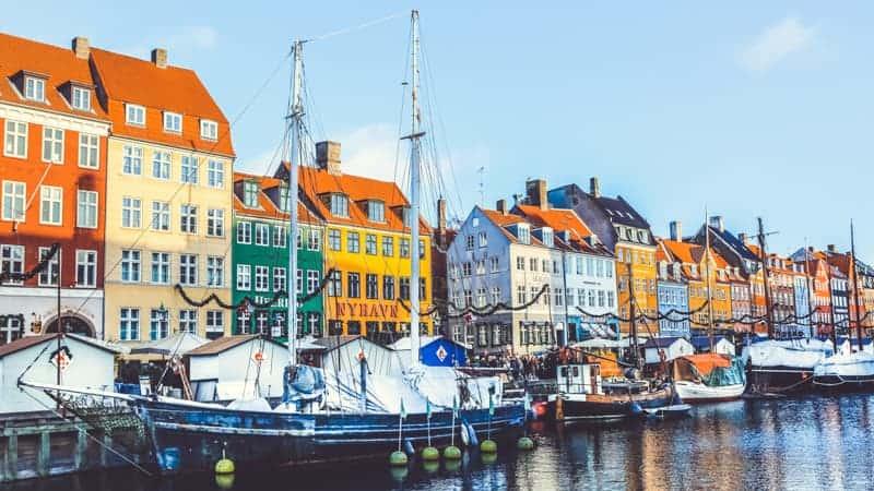 Nyhavn waterfront in Copenhagen, Denmark - Viking Homelands Cruise
