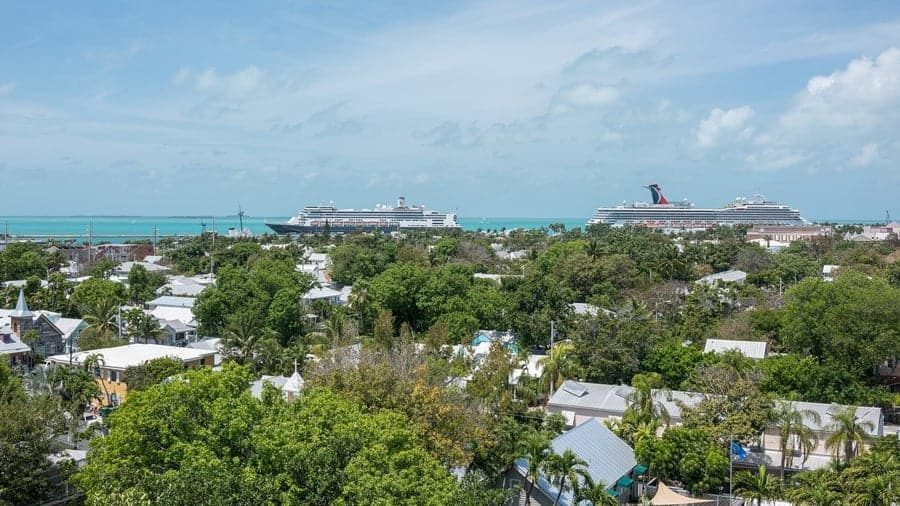 Cruise ships in Key West, Florida