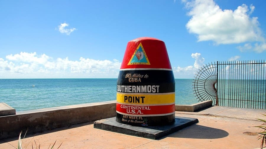 Southernmost Point Monument in Key West, Florida
