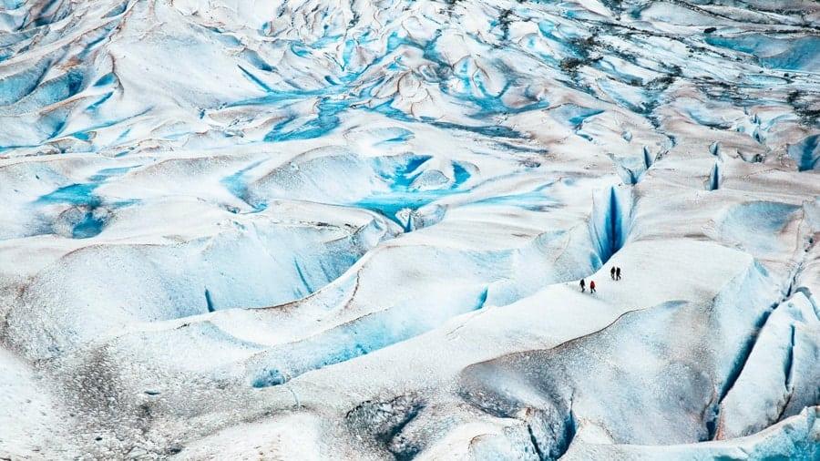 Mendenhall Glacier hikers in Juneau, Alaska