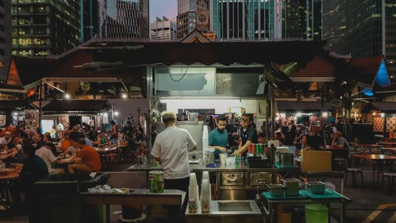 Street food market in Singapore