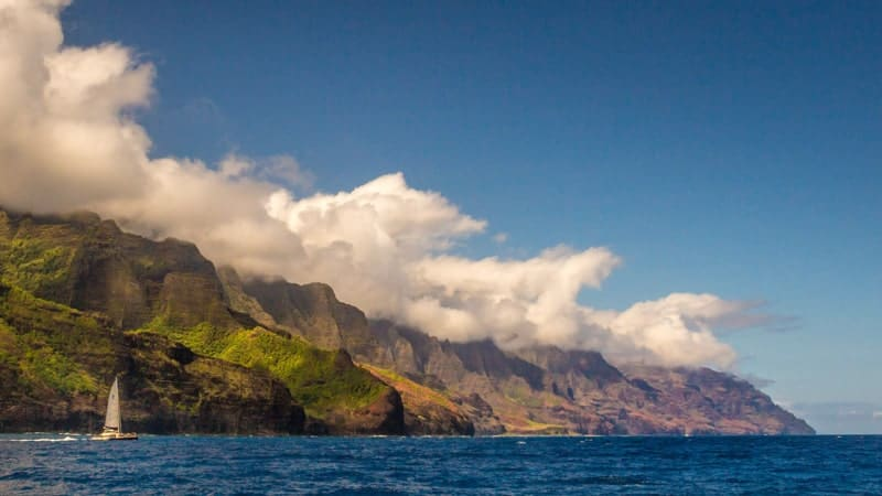 Na Pali Coast, Kauai, Hawaii cruises from Los Angeles