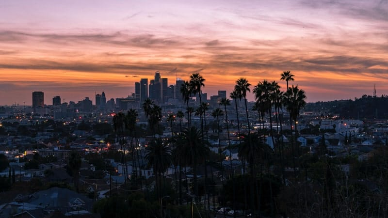 Sunset in Los Angeles, California
