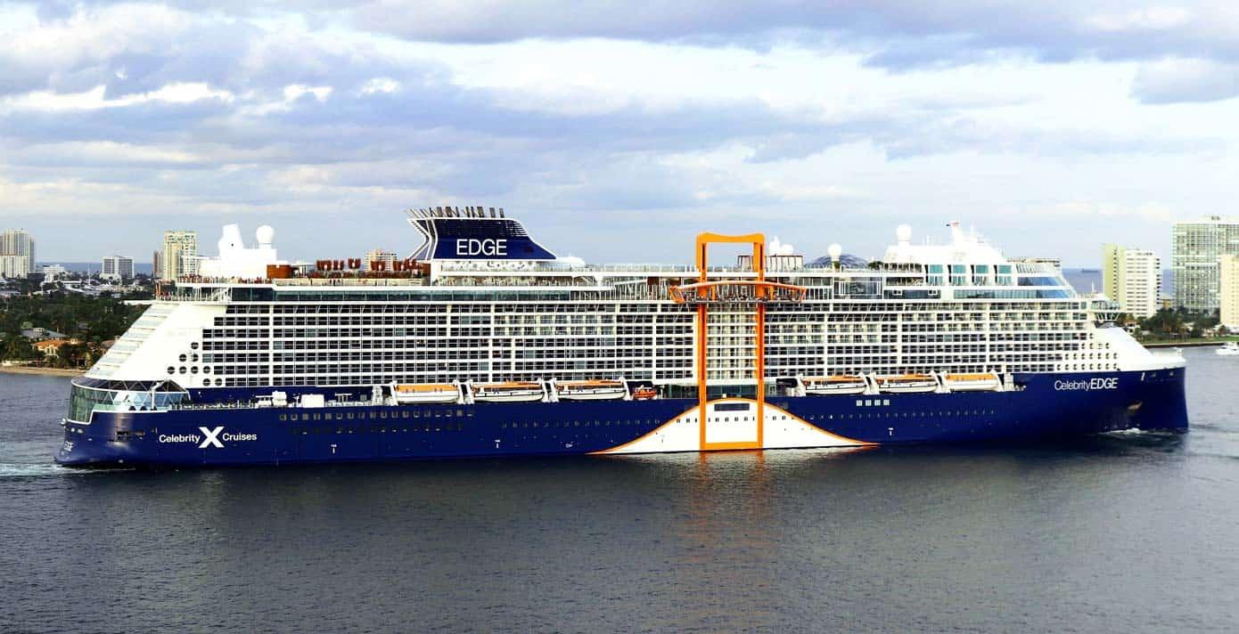 Cruise ship in the ocean in Florida.