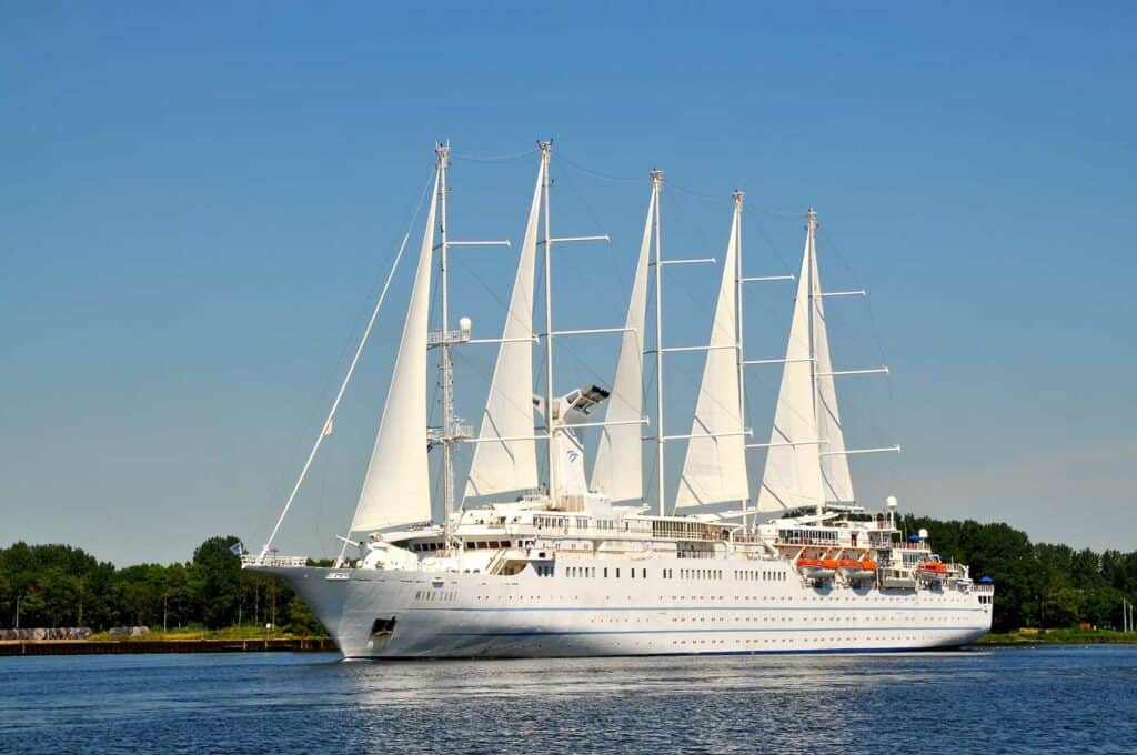 Largest sailing cruise ship in the ocean.