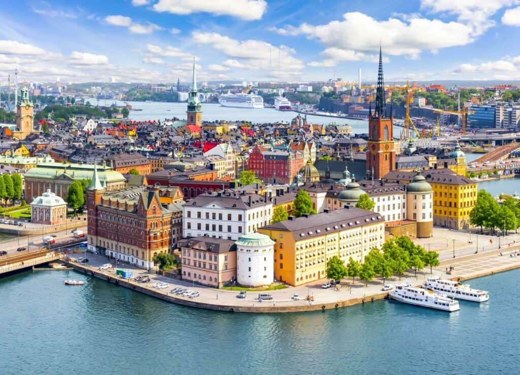 Aerial view of Stockholm, Sweden.