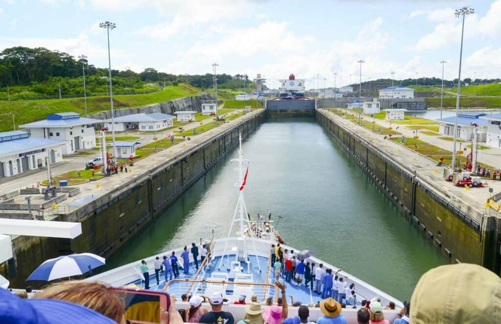 Experiencing a Panama Canal crossing on board cruise ship.