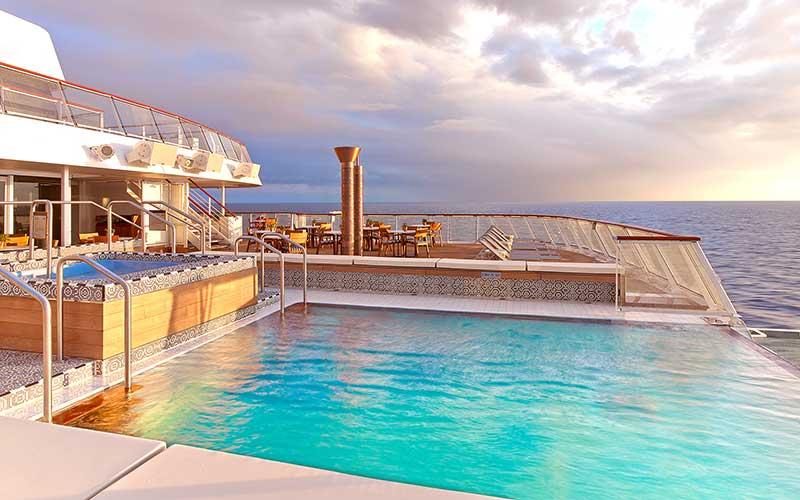Pool on a cruise ship.