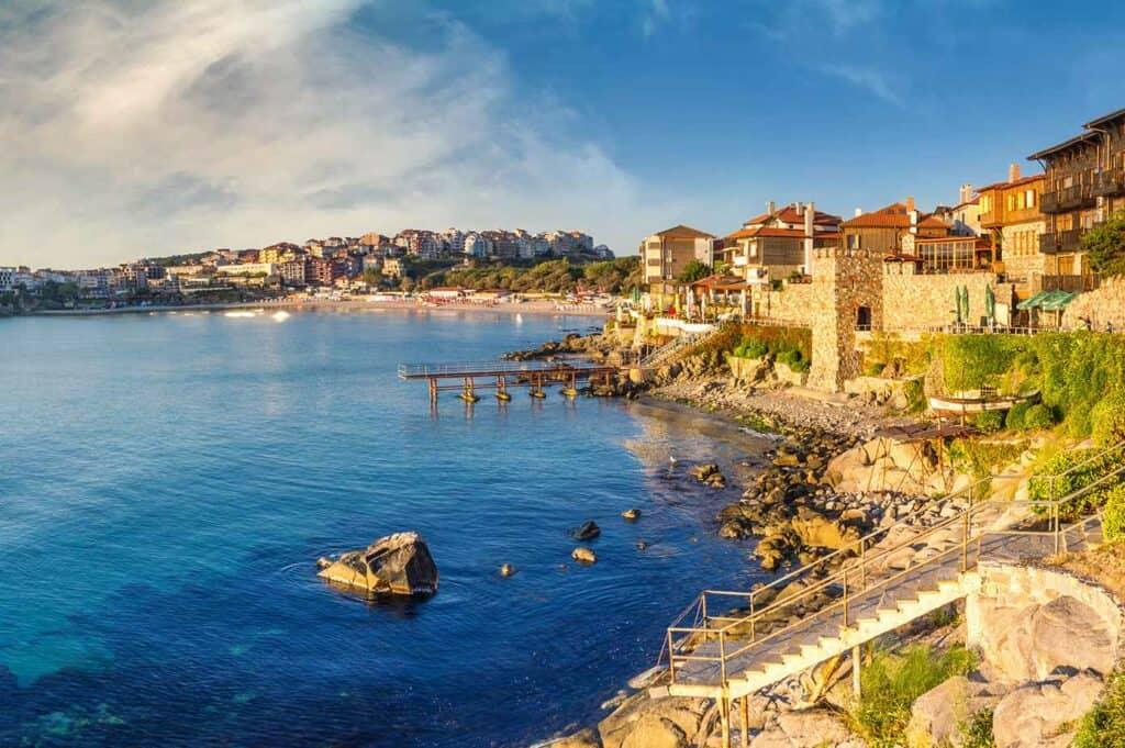 City of Sozopol, Bulgaria on the coast of the Black Sea.
